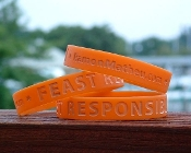 Feast Responsibly Silicone Bracelet