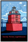 Sandy Point Lighthouse Poster